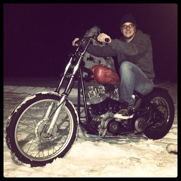 Harley Shovelhead Chopper Skinny
