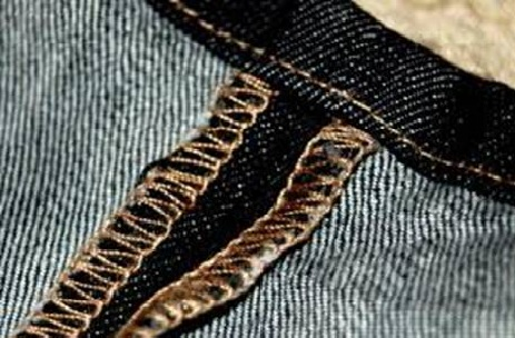 Not selvedge, standard seam - made in China by blind Filipino children who are underpaid.