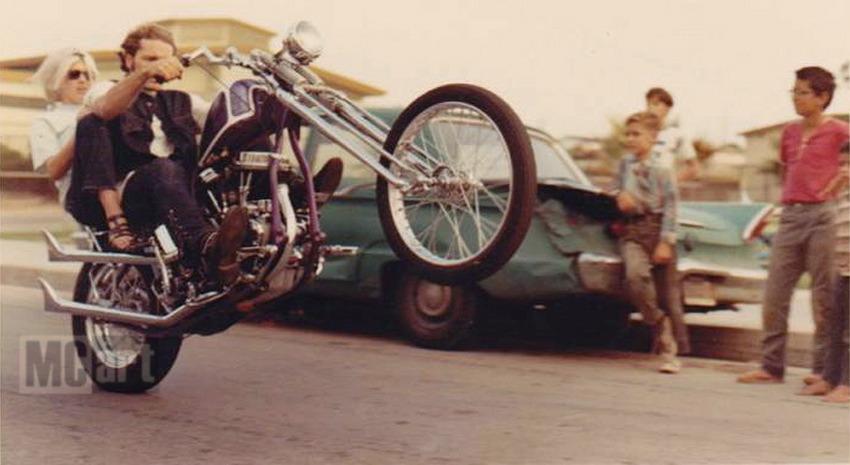 Panhead Wheelie