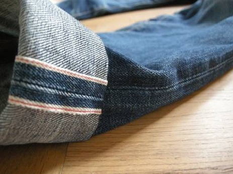 Legit selvedge raw seam - cuffed to a regulatory length... pomade not included.