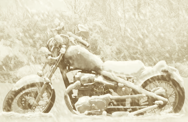 sepia-motorcycle-snow