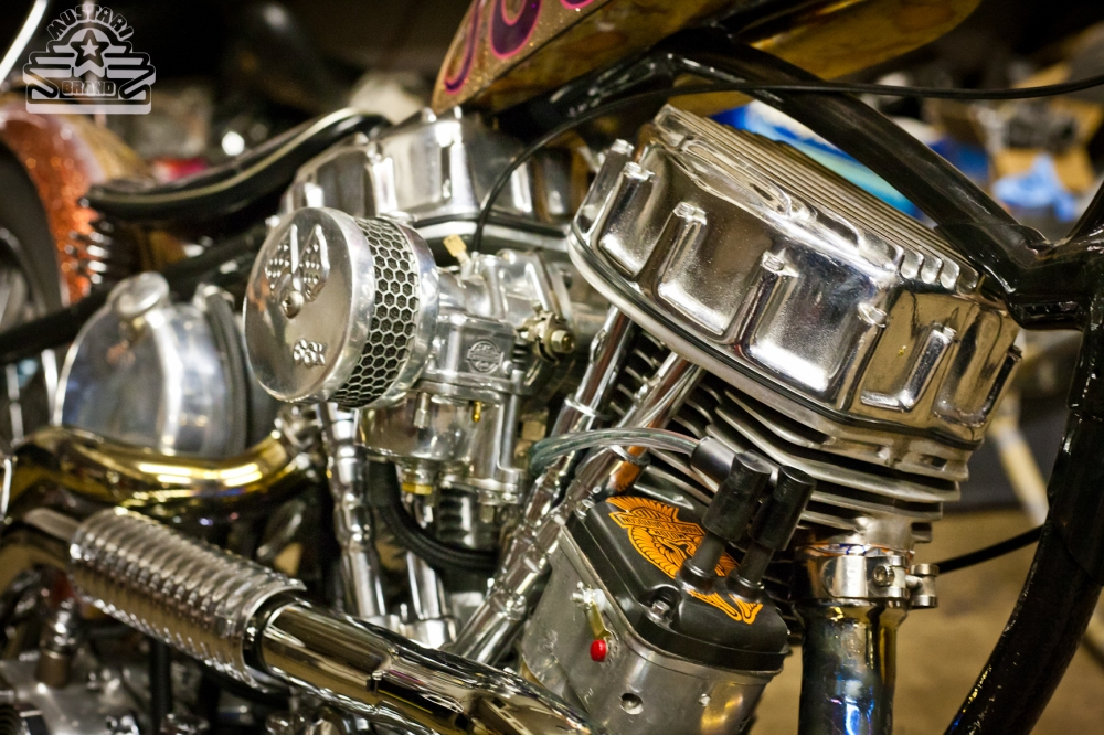 Harley Panhead Motor Chopper Chrome