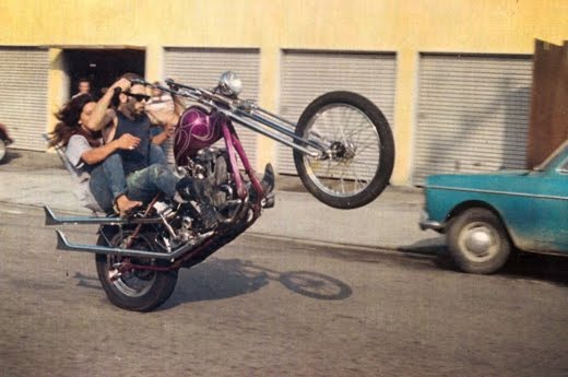 Harley Chopper Wheelie