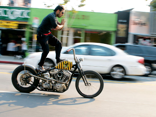 Yaniv Evan is a talented builder in the cross-pollinated world of modern choppers