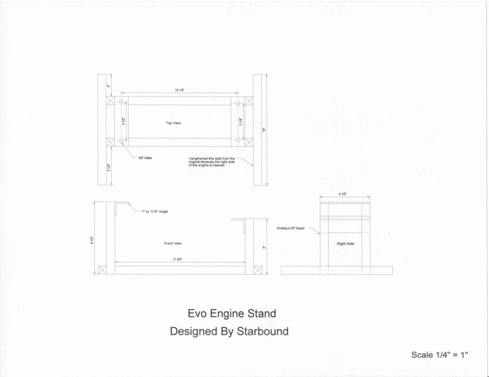 Harley Motor Engine Stand Plans
