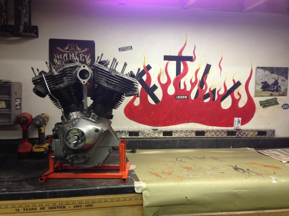 Harley Motor Stand