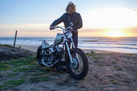 My favorite photo from the trip. Harley Dorius in Halfmoon Bay before we destroyed our guts with 3 Amigos' burritos.